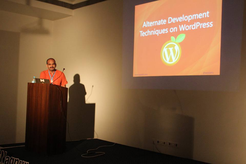 Amit Singh at WordCamp Nagpur