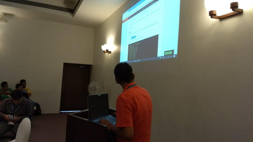 Anirudha Prabhune taking a Workshop at WordCamp Nagpur